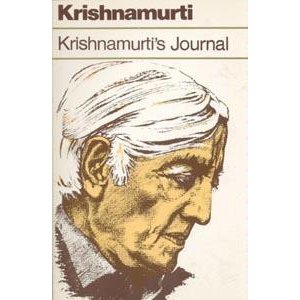Book Cover: Krishnamurti's Journal