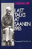 Book Cover: Last Talks at Saanen