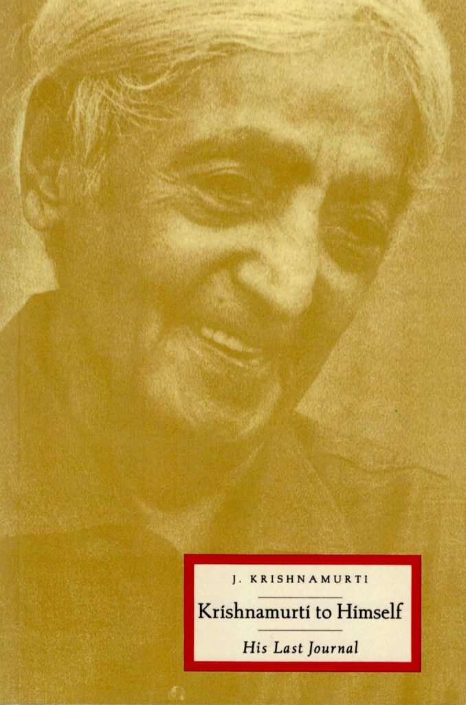 Book Cover: Krishnamurti to Himself: His Last Journal